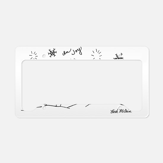 In Joy Holiday License Plate Holder