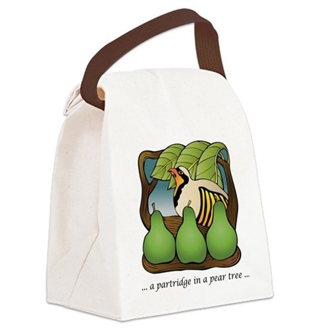 PartridgeInPearTree Canvas Lunch Bag
