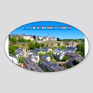 Luxembourg 01C Sticker (Oval)