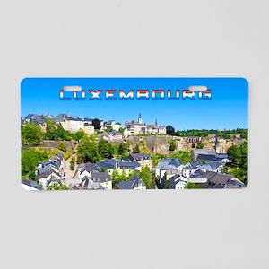 Luxembourg 01C Aluminum License Plate