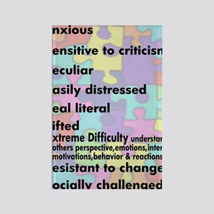 aspergers traits 3 copy Rectangle Magnet
