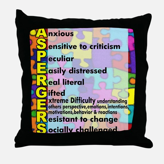 aspergers traits 3 copy Throw Pillow