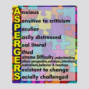 aspergers traits 3 copy Throw Blanket