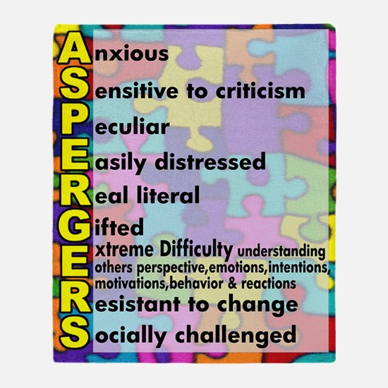 aspergers traits 3 copy Throw Blanket