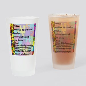 aspergers traits 3 copy Drinking Glass