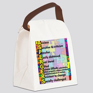 aspergers traits 3 copy Canvas Lunch Bag