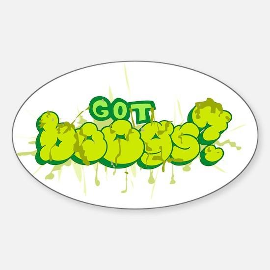 got_boogs Sticker (Oval)