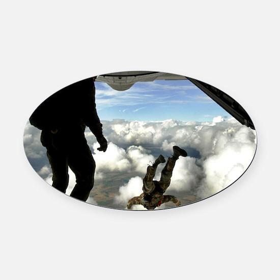 USAF PJ FPP Oval Car Magnet