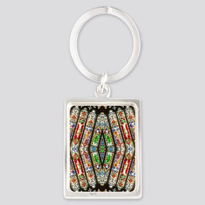 abstract stained glass 2 Portrait Keychain