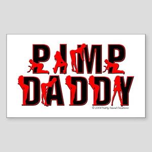 Pimp Daddy Rectangle Sticker