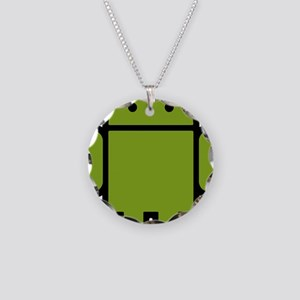 Android-Stroked-Black-New Necklace Circle Charm