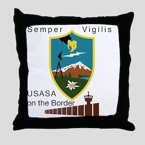 BorderSitesTshirt Throw Pillow