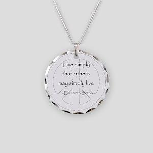 setonquotelg Necklace Circle Charm