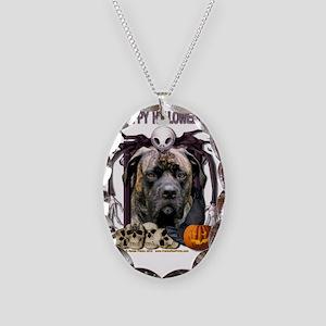 HalloweenNightmare_Mastiff_Cyc Necklace Oval Charm
