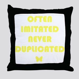 MCnoimitation Throw Pillow
