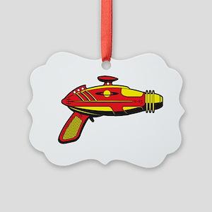 RaygunRedYellow Picture Ornament