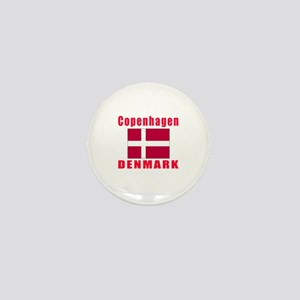 Copenhagen Denmark Designs Mini Button