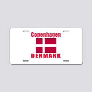 Copenhagen Denmark Designs Aluminum License Plate