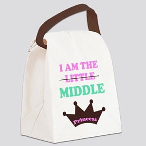 I am the little middle princess Canvas Lunch Bag