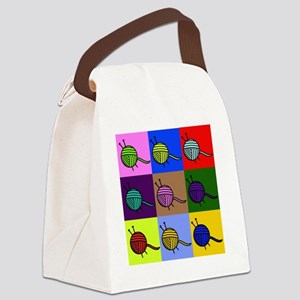 balls of colourful yarn Canvas Lunch Bag