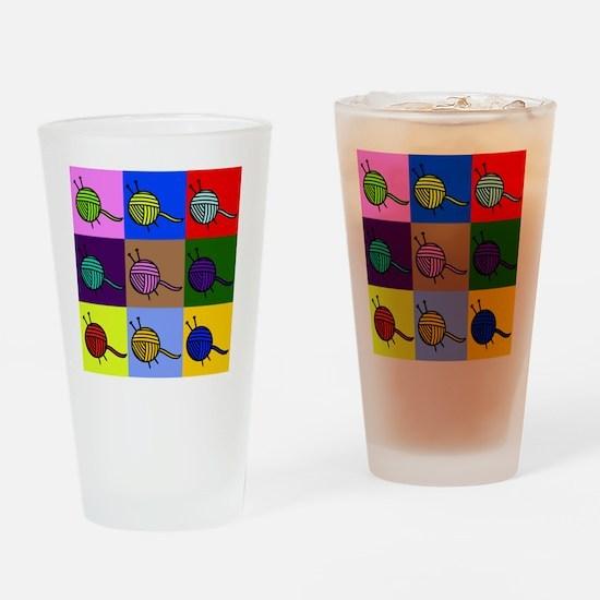 balls of colourful yarn Drinking Glass