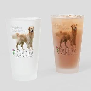 GoldenGrandmaWhiteMerge Drinking Glass