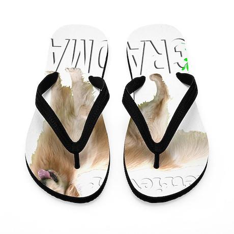 GoldenGrandmaWhiteMerge Flip Flops