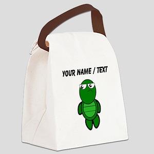 Custom Cartoon Turtle Canvas Lunch Bag