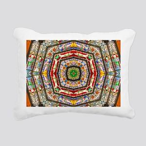 abstract stained glass 1 Rectangular Canvas Pillow