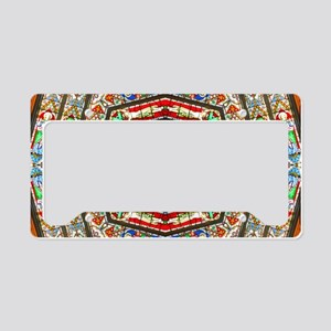 abstract stained glass 1b License Plate Holder