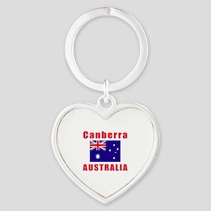 Canberra Australia Designs Heart Keychain