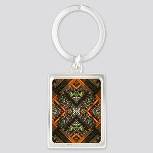 abstract stained glass 4b Portrait Keychain