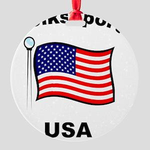 Volkssport USA Round Ornament