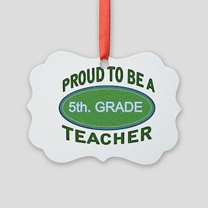 proud 5th. grade green Picture Ornament