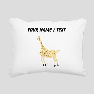 Custom Rock Art Giraffe Rectangular Canvas Pillow