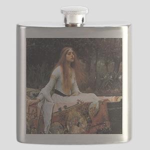 Lady of Shalott by Waterhouse Flask