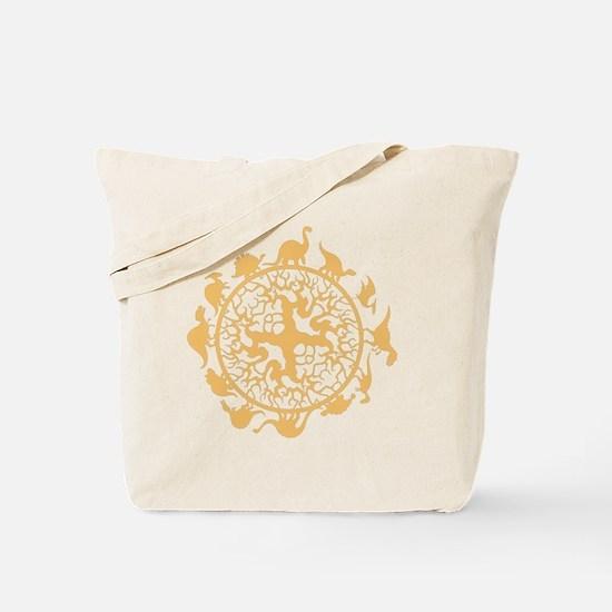 dino circle4 Tote Bag