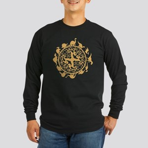 dino circle4 Long Sleeve Dark T-Shirt