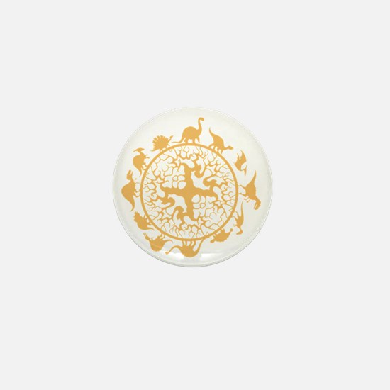 dino circle4 Mini Button