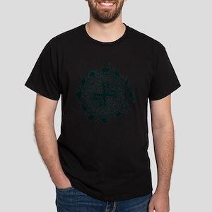 dino circle2 Dark T-Shirt