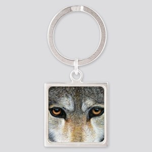 Wolf Eyes  1000 Square Keychain