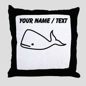 Custom Baby Whale Throw Pillow