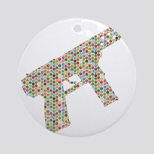 Tec-9 Ecstasy Pills Round Ornament