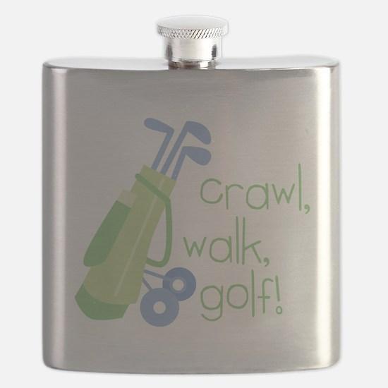 Crawl, Walk, Golf Flask