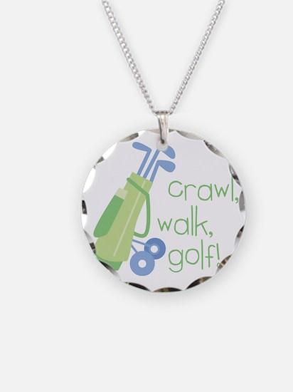 Crawl, Walk, Golf Necklace