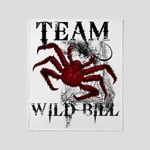 2-wild_bill_front_blk Throw Blanket