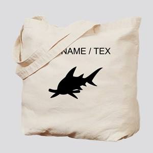 Custom Hammerhead Shark Silhouette Tote Bag