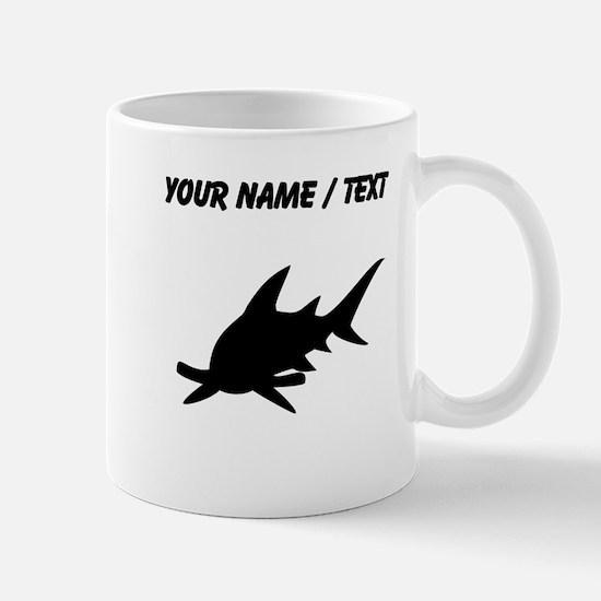 custom hammerhead shark silhouette mugs