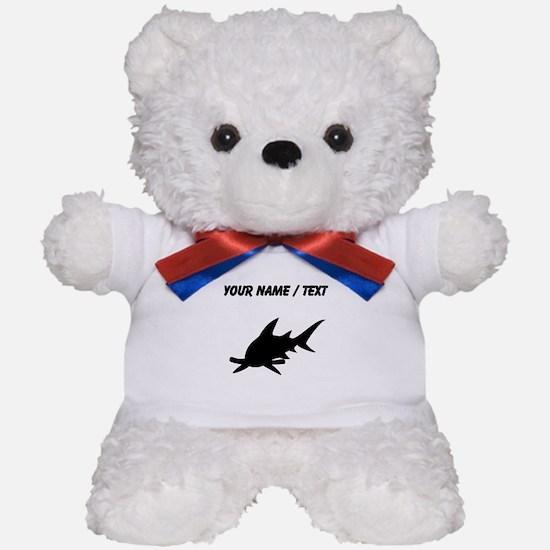 Custom Hammerhead Shark Silhouette Teddy Bear