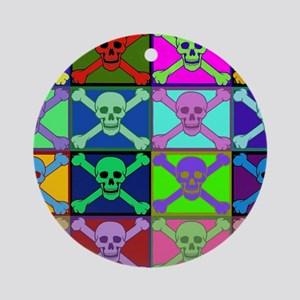 Pirate Warhol - small poster Round Ornament